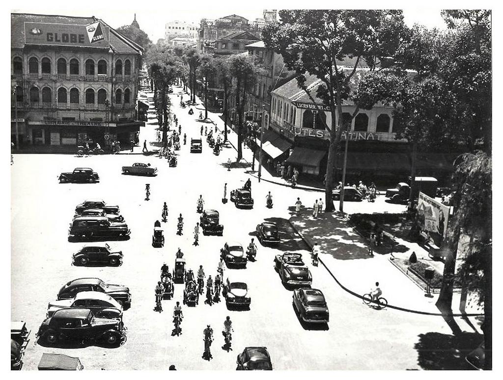 Catinat street in old Sài Gòn.