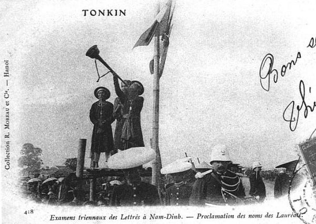 Lễ xướng danh những sĩ tử đỗ đạt trường thi Nam Định 1897