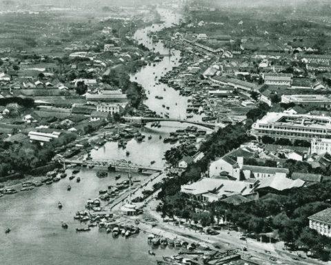 Nhìn từ trên không của sông Sài Gòn