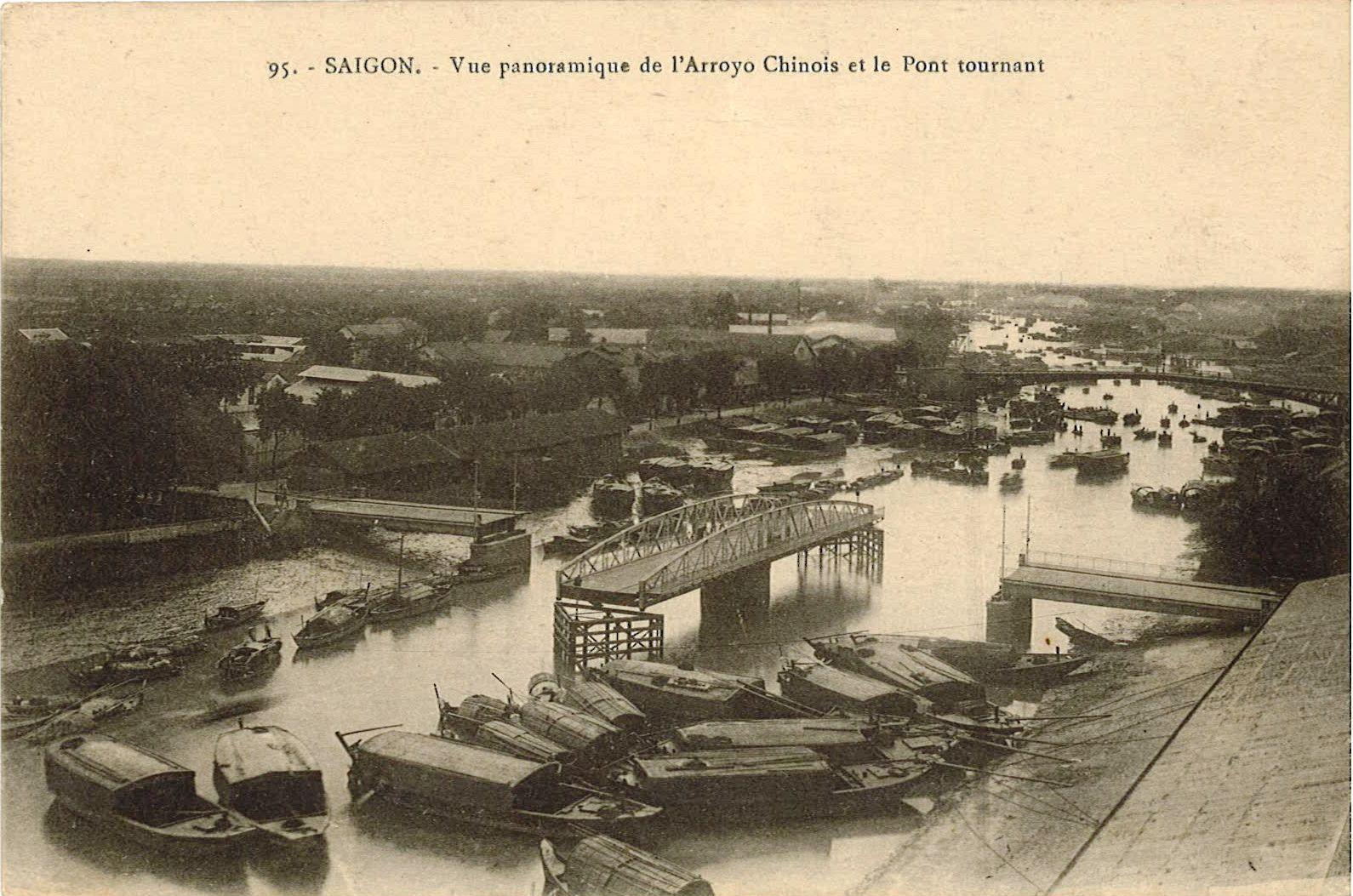 Sài Gòn - Toàn Cảnh Kênh Tàu và cầu quây