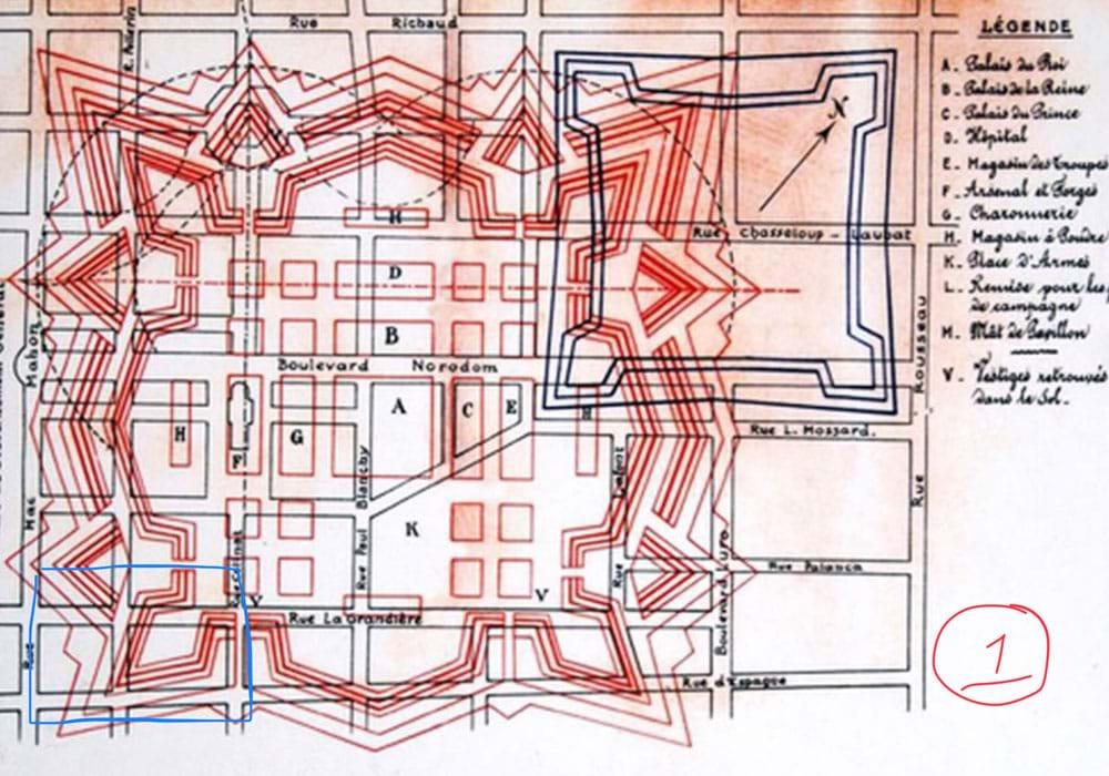 Bản đồ Thành Gia Định 1935