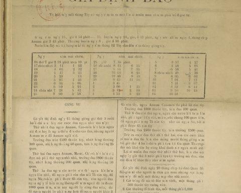 Gia Định Báo Số 1 Năm 1866