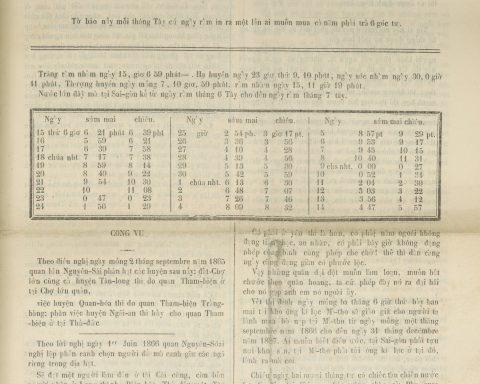 Gia Định Báo – Số 6 năm thứ hai (tháng sáu 1866)