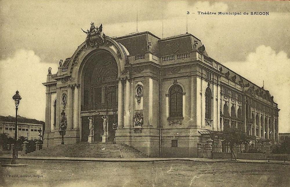 8 công trình đầu tiên của Sài Gòn xưa - Nhà hát lớn Sài Gòn