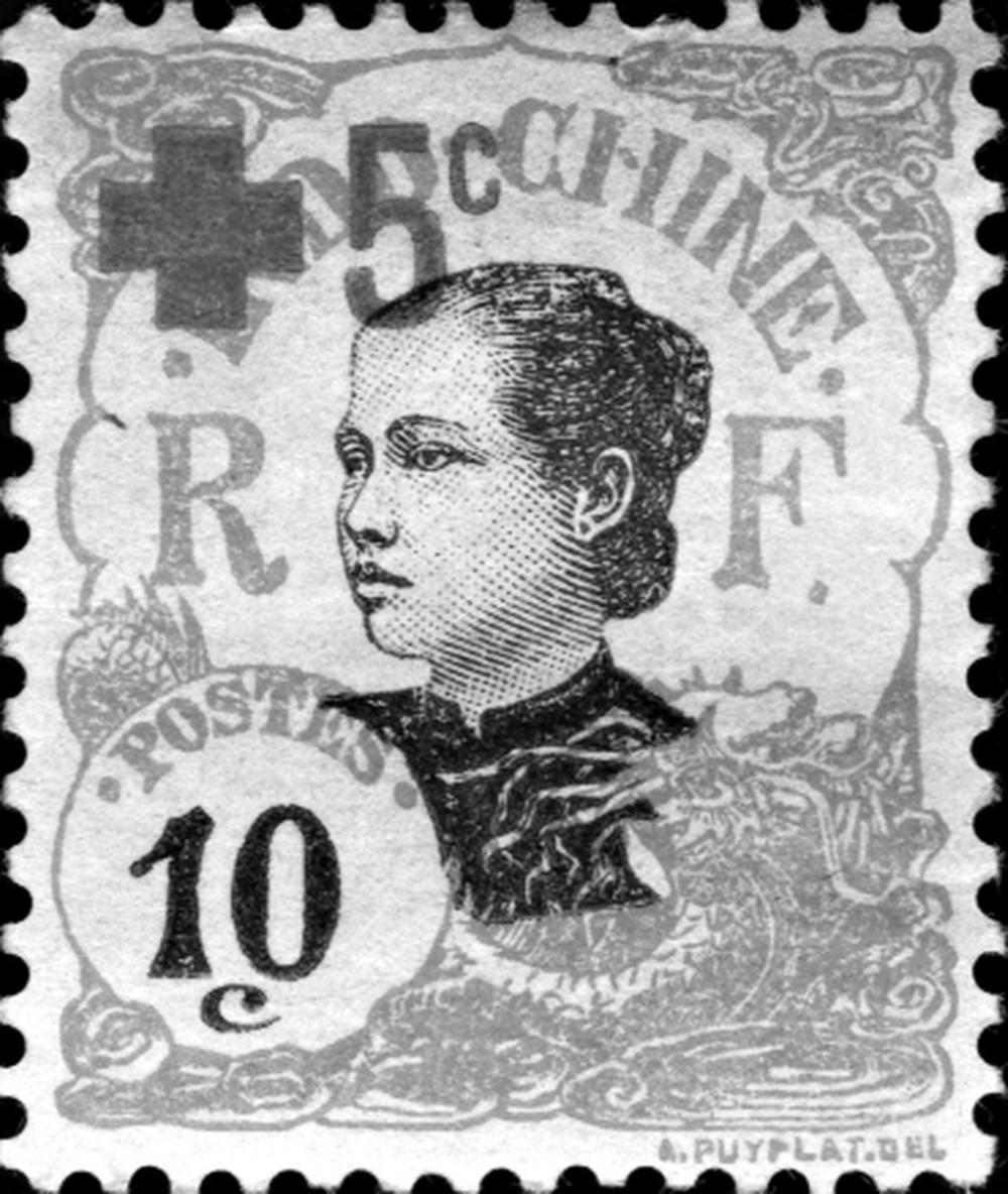 Hoa hậu đầu tiên Nam Kỳ - Cô Ba Thiệu trên tem